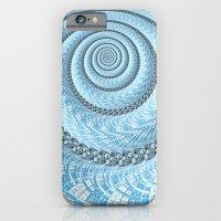 Spiral in Light Blue iPhone 6 Slim Case