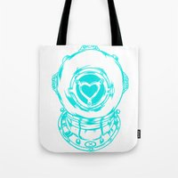 Love Helmet: Blue Tote Bag