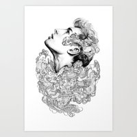 Facial explosion part 3 Art Print