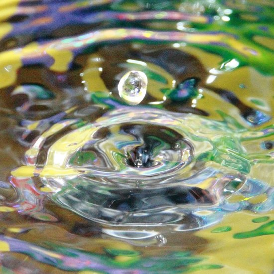Iridescent Water Drop I Art Print