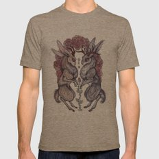 Rare Hearts Mens Fitted Tee Tri-Coffee SMALL