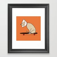 Cone Of Shame Won't Stop… Framed Art Print