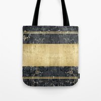 Marble In GOld Tote Bag
