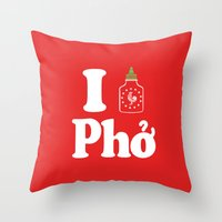 I Heart Pho Throw Pillow