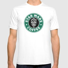 Star Wars Coffee (Darth Maul) Mens Fitted Tee White SMALL
