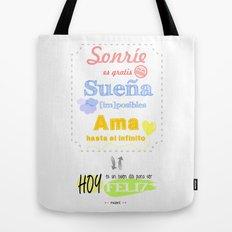 {ESP} SONRÍE · SUEÑA · AMA Tote Bag