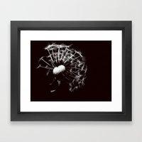 Dandelion Black & White Framed Art Print