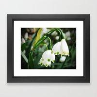 Spring Snowflake Framed Art Print
