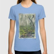 You And Me Womens Fitted Tee Tri-Blue LARGE