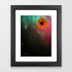 the eye sees all Framed Art Print