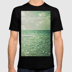 Sea of Happiness Mens Fitted Tee Black SMALL