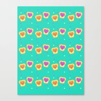 Sweet Lovers - Pattern Canvas Print