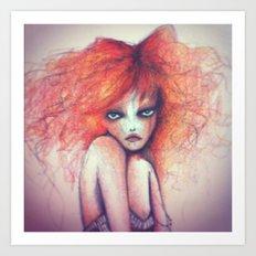 fire my heart  Art Print