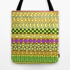 Yzor pattern 011 Yellow Things Tote Bag