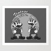 Vintage Bros. Art Print