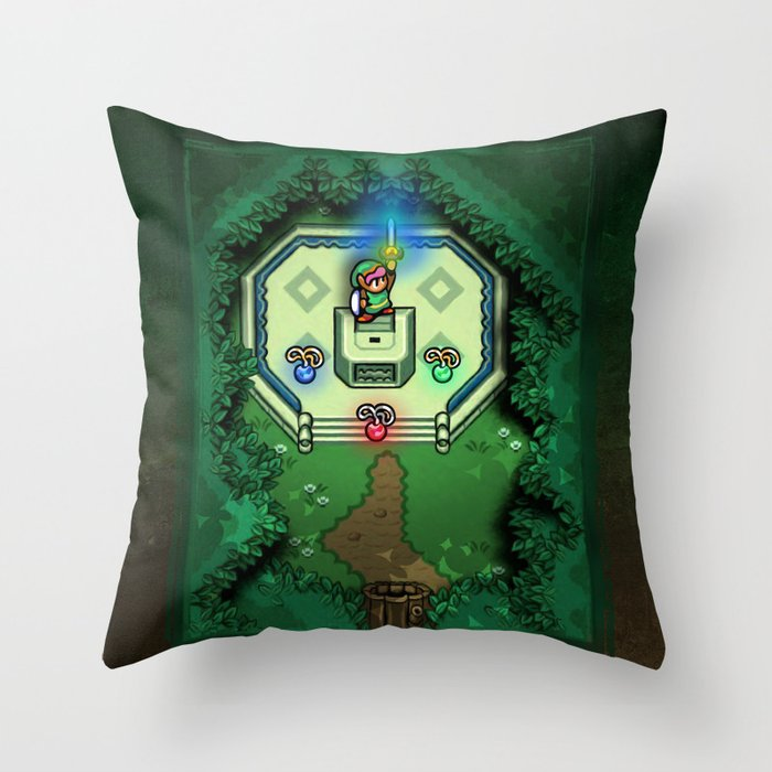 Zelda Throw Pillow : Zelda Link to the Past Master Sword Throw Pillow by Likelikes Society6