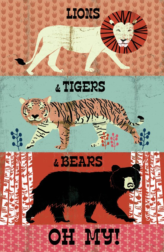 Lions and Tigers and Bears!  Canvas Print