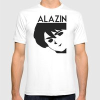 ALAZIN Mens Fitted Tee White SMALL
