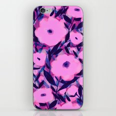 Layered Leaf Floral Pink iPhone & iPod Skin