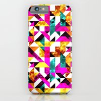 iPhone & iPod Case featuring Textural Aztec Geometric  by AJJ ▲ Angela Jane Johnston
