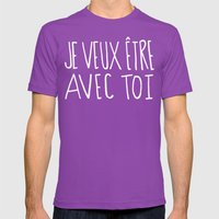 je veux être avec toi Mens Fitted Tee Ultraviolet SMALL
