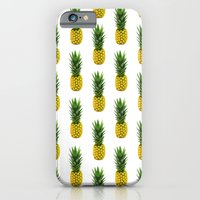 iPhone & iPod Case featuring Pineapple Pattern by Chris Klemens