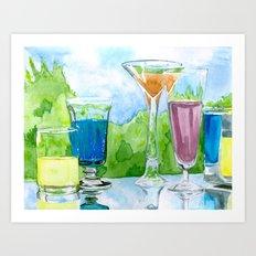 Light Reflection Color Art Print