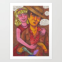 Stagger Meets Nelly Art Print