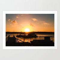 Sun is Going Down Art Print