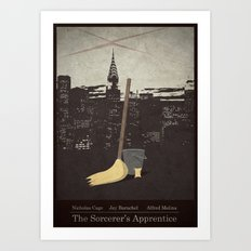 The Sorcerer's Apprentice - Minimal Poster Art Print