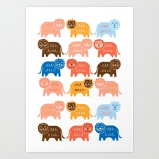 Lions  Art Print