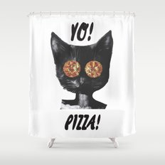 Pizza cat Shower Curtain