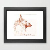 Shepherd Dreams Framed Art Print