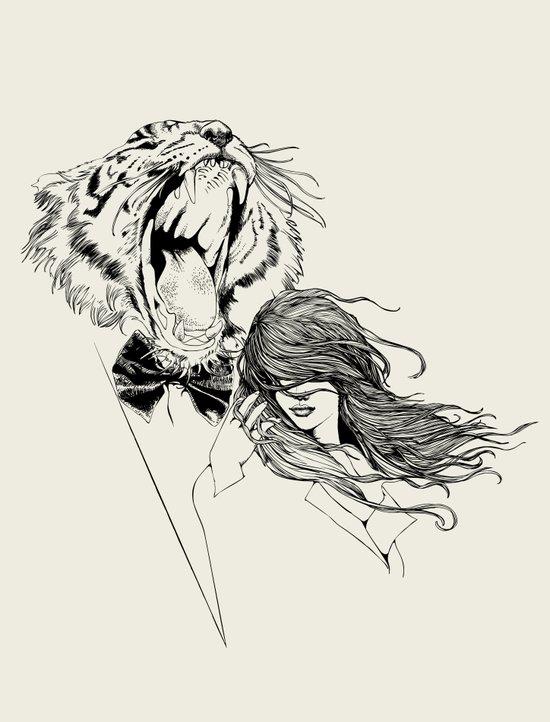The Tiger's Roar Art Print