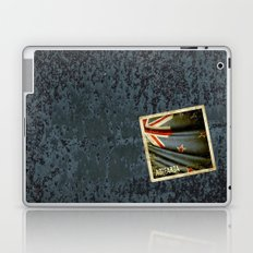 Grunge sticker of New Zealand flag Laptop & iPad Skin