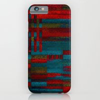 Dark reds in lines of chalk iPhone 6 Slim Case