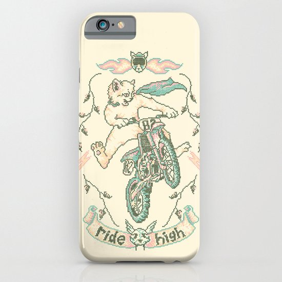 Motocross-Stitch Kitteh iPhone & iPod Case