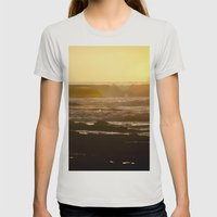 End of Day Womens Fitted Tee Silver SMALL