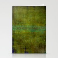 Green burrows ~ Abstract Stationery Cards