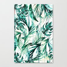 Green Tropical Paradise  Canvas Print