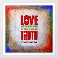 Love & Truth Art Print