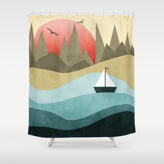 Ocean Adventure 2  Shower Curtain