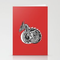 Nesting Dragon Stationery Cards