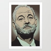 Art Print featuring Bill Murray  by Jordan McLaughlin