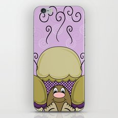 Cute Monster With Yellow And Purple Frosted Cupcakes iPhone & iPod Skin