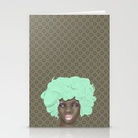 emogirl earth Stationery Cards
