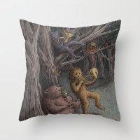 Forest Music  Throw Pillow