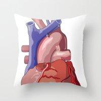 Vector Heart Throw Pillow