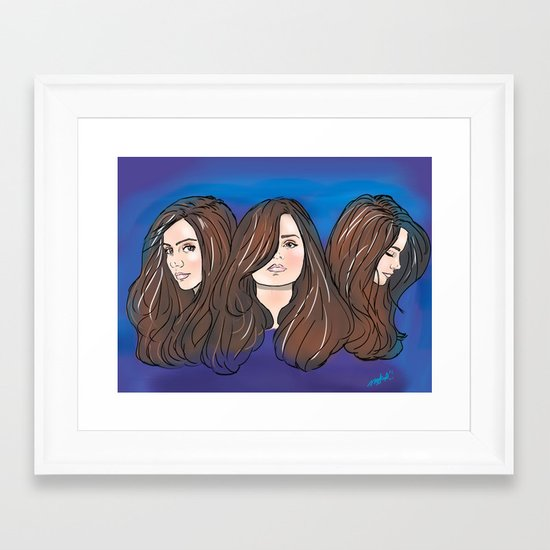 Jenna Louise Coleman Framed Art Print