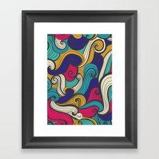out waves Framed Art Print